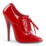 Red 15 cm DOMINA-460 high heels oxford pumps for men