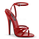 Red 15 cm Devious DOMINA-108 high heeled sandals