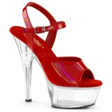 Red 15 cm KISS-209BHG Platform High Heels Shoes