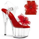 Red 18 cm ADORE-708BFL platform pleaser sandals