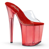 Red 20 cm FLAMINGO-801T Platform Women Mules Shoes