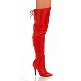 Red Leather 13 cm LEGEND-8899 overknee high heel boots