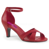 Red Leatherette 7,5 cm DIVINE-435 big size sandals womens