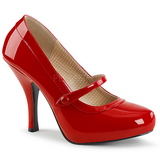 Red Patent 11,5 cm PINUP-01 big size pumps shoes
