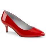 Red Patent 6,5 cm KITTEN-01 big size pumps shoes