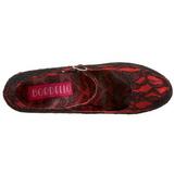 Red Satin 14,5 cm Burlesque TEEZE-07L Platform Pumps Shoes