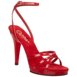 Red Shiny 12 cm FLAIR-436 Womens High Heel Sandals