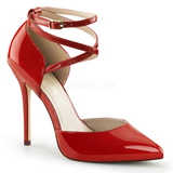 Red Shiny 13 cm AMUSE-25 Pumps High Heels for Men
