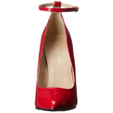 Red Shiny 13 cm SEXY-23 Low Heeled Classic Pumps Shoes