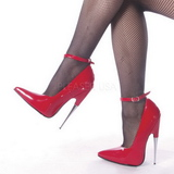 Red Shiny 15 cm SCREAM-12 Fetish Pumps Women Shoes