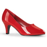 Red Shiny 8 cm DIVINE-420W High Heel Pumps for Men