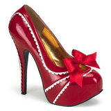 Red Varnish 14,5 cm TEEZE-14 Womens Shoes with High Heels