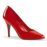 Red Varnished 10 cm VANITY-420 pointed toe pumps high heels
