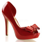 Red Varnished 12 cm LUMINA-32 High Heeled Evening Pumps Shoes
