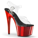 Red chrome platform 18 cm Pleaser ADORE-708 poledance shoes