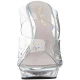 Rhinestones 13 cm FABULICIOUS LIP-102SD womens mules shoes