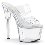 Rhinestones 18 cm Pleaser SKY-302SD womens mules shoes