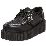 Righe 5 cm CREEPER-113 scarpe creepers donna suola spessa