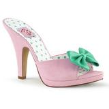 Rosa 10 cm SIREN-03 Pinup scarpe ciabattine con farfallino