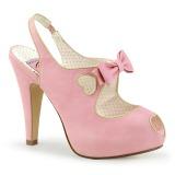 Rosa 11,5 cm BETTIE-03 Pinup scarpe décolleté con plateau nascosto