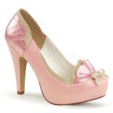 Rosa 11,5 cm BETTIE-20 Pinup scarpe décolleté con plateau nascosto