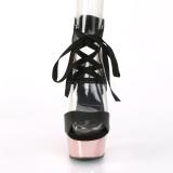 Rosa 15 cm DELIGHT-600-14 sandali pleaser con plateau