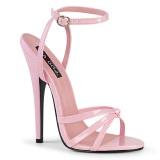 Rosa 15 cm Devious DOMINA-108 sandali tacchi a spillo