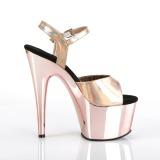 Rosa 18 cm ADORE-709HGCH Ologramma plateau sandali donna con tacco