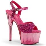 Rosa 18 cm ADORE-710GT scintillare plateau sandali donna con tacco