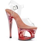 Rosa 18 cm MOON-708GFT scintillare plateau sandali donna con tacco