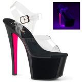 Rosa 18 cm SKY-308TT Neon plateau sandali donna con tacco