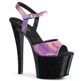 Rosa 18 cm SKY-309HG Ologramma plateau sandali donna con tacco