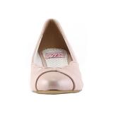 Rosa 4 cm retro vintage LULU-05 Pinup scarpe décolleté con tacchi bassi