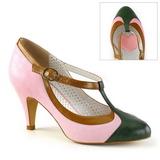 Rosa 8 cm PEACH-03 Pinup scarpe décolleté con tacchi bassi