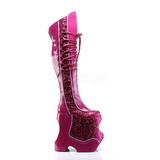 Rosa Brillare 22 cm FABULOUS-3035 Overknee Stivali da Drag Queen