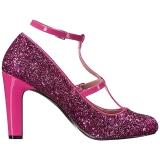 Rosa Scintillare 10 cm QUEEN-01 grandi taglie scarpe décolleté