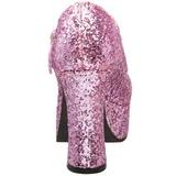 Rosa Scintillare 11 cm MARYJANE-50G Scarpe Décolleté Mary Jane