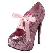 Rosa Scintillare 14,5 cm TEEZE-10G Concealed burlesque scarpe tacchi a spillo