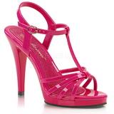Rosa Vernice 12 cm FLAIR-420 scarpe tacco alto numeri grandi per uomo