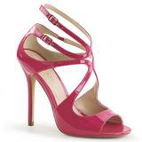 Rosa Vernice 13 cm AMUSE-15 Sandali da Sera con Tacco Alto