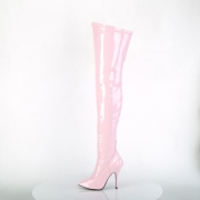 Rosa Vernice 13 cm SEDUCE-3000 stivali alti numeri grandi da uomo