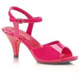 Rosa Vernice 8 cm BELLE-309 scarpe tacco alto numeri grandi per uomo