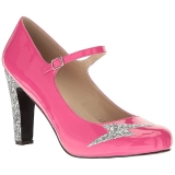 Rosa Verniciata 10 cm QUEEN-02 grandi taglie scarpe décolleté