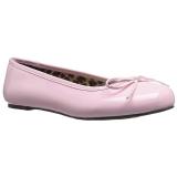 Rosa Verniciata ANNA-01 grandi taglie scarpe ballerine