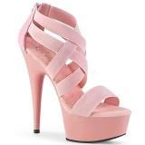 Rosa banda elasticizzata 15 cm DELIGHT-669 scarpe da donna pleaser