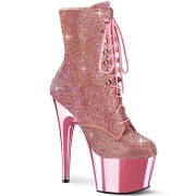 Rosa rhinestones 18 cm ADORE-1020CHRS pleaser high heels ankle boots