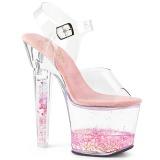 Rosa scintillare 18 cm LOVESICK-708GH scarpe con tacchi da pole dance