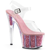 Rosa scintillare 18 cm Pleaser ADORE-708G scarpe da cubista e spogliarellista