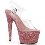 Rosa scintillare 18 cm Pleaser ADORE-708LG scarpe con tacchi da pole dance