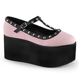 Rosa tela 8 cm CLICK-07 scarpe lolita gotico calzature suola spessa